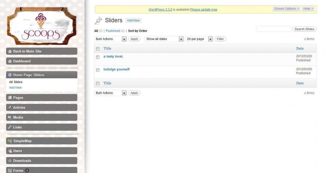 WordPress Admin Theme Development Scoops