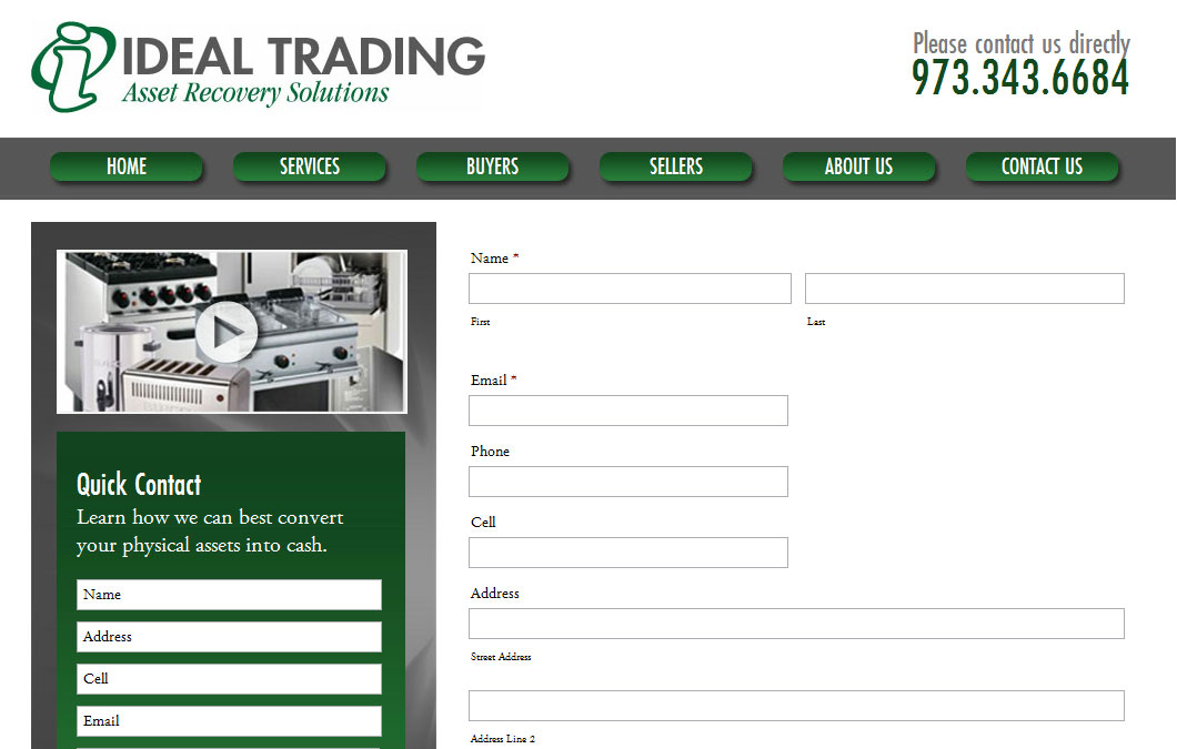 WordPress Theme Development Ideal Trading