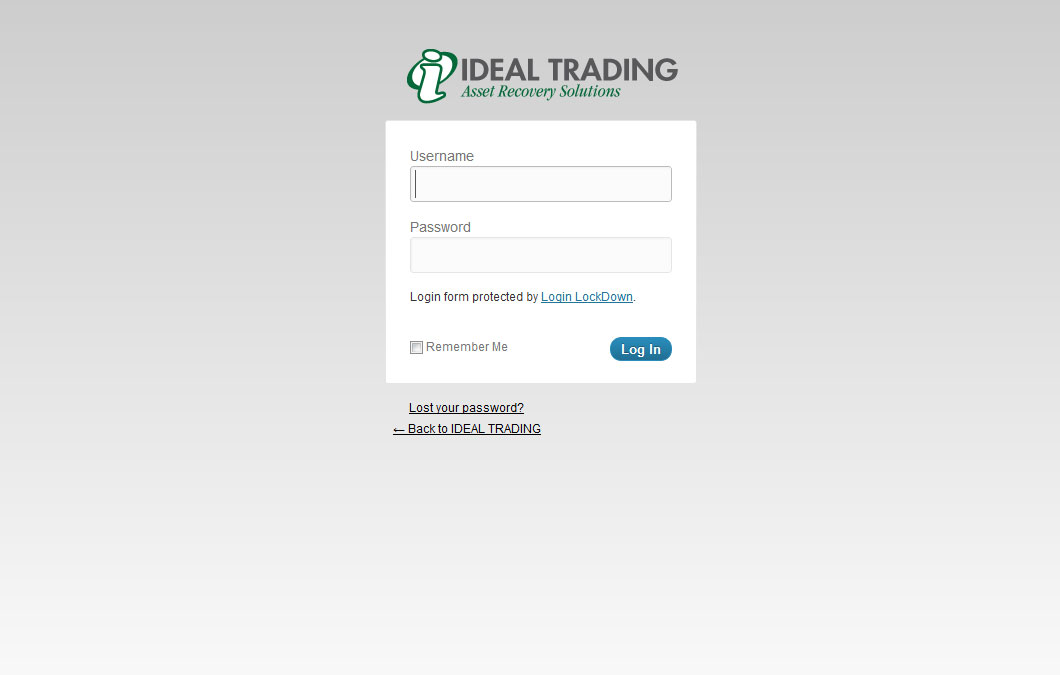 WordPress Admin Theme Development Ideal Trading