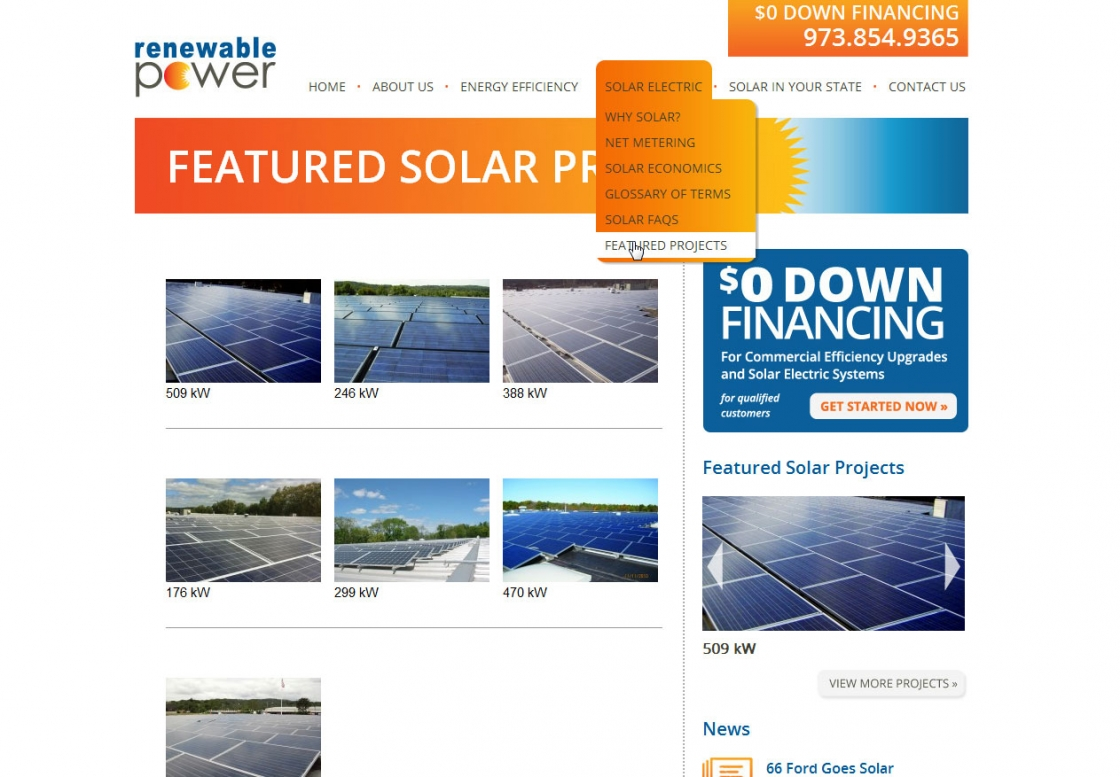 WordPress Theme Development Renewable Power